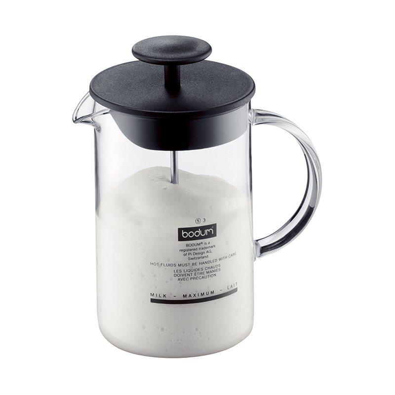 Bodum Latte Milk Frother with Glass Handle 0.25l 8oz Black